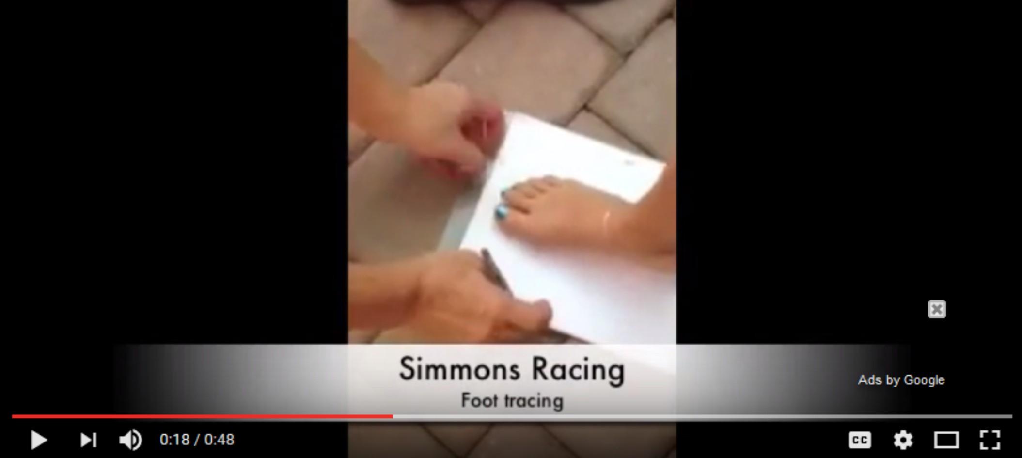 feet-tracing